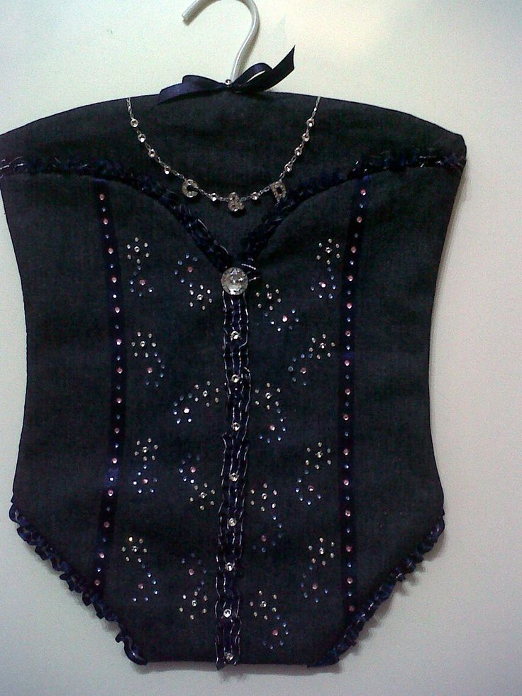 Denim and bling...Made this for my niece's pamper party...