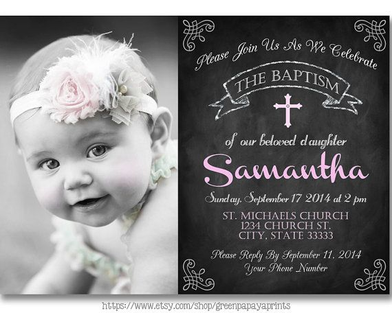 Baptism Gown Invitations