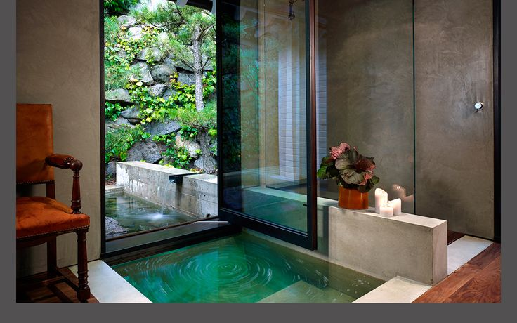 Asian #sanctuary where water falls into the room.