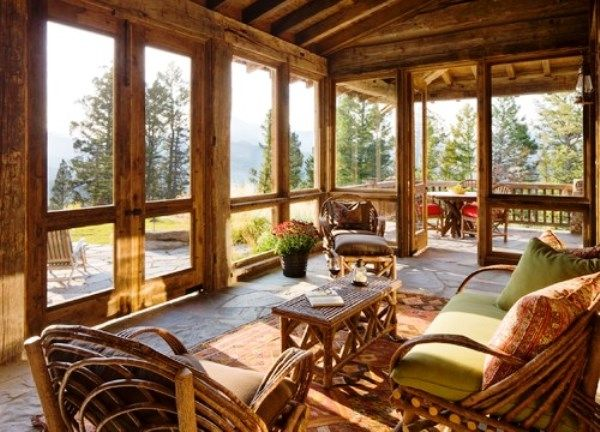 rustic-sunrooms ideas                                                       …