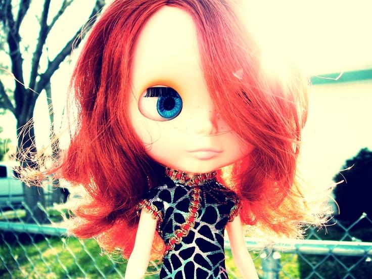 Urban BlytheFriends Freckles, Slanted Harness, Red Hair, Blythe Dolls, Urban Blythe, Dolls Collection, Blythe Obsession, Harness Blythe, Blythe Urban