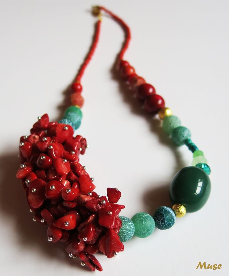 Garden of the Sea - Muse Unique Handmade Jewelry (Coral and Agate)