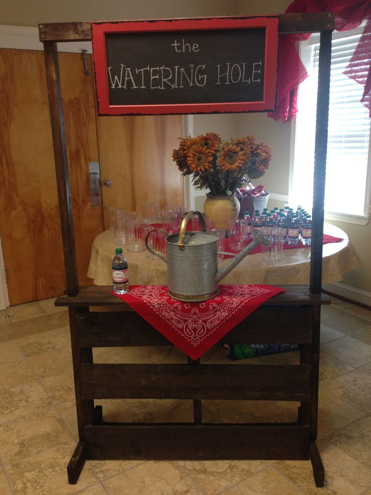 The Watering Hole Made From A Pallet Chalkboard Sign