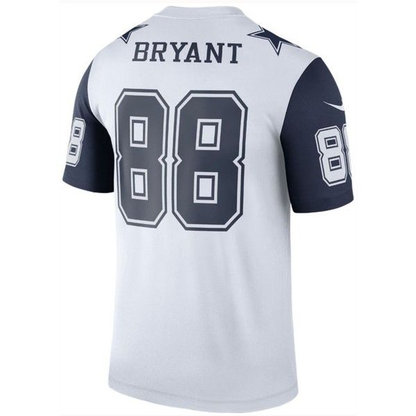 Nike Men's Dez Bryant Dallas Cowboys Legend Color Rush Jersey ($80) ❤ liked on Polyvore featuring men's fashion and white