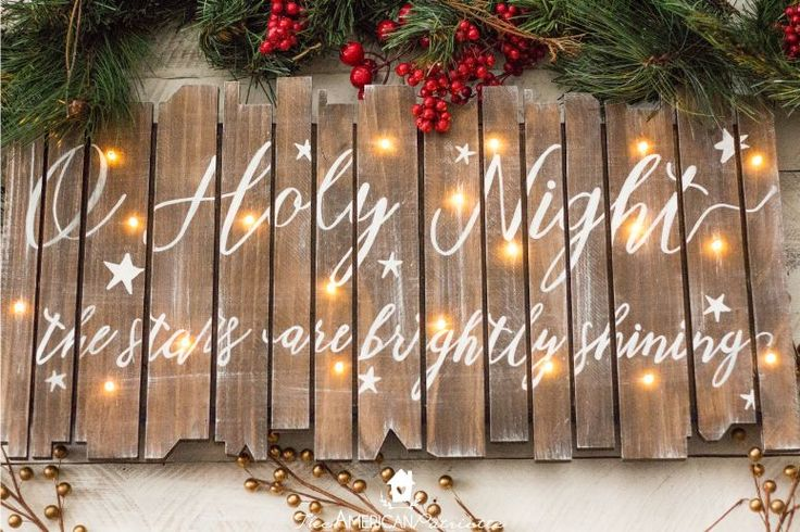 An easy-to-follow tutorial to create a beautiful DIY rustic light-up Christmas sign for your holiday home decor. Also makes a great homemade gift!