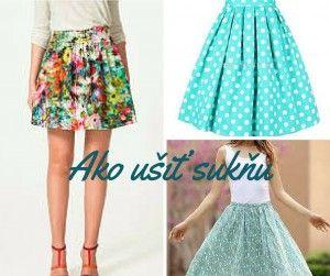 Ako ušiť sukňu