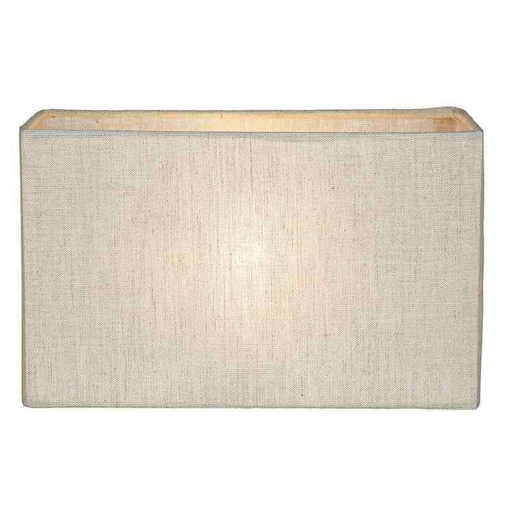 John Lewis Wall Lamp Shades : John Lewis Samantha Rectangle Shades, Natural Linen John lewis, Lamp shades and Lamps