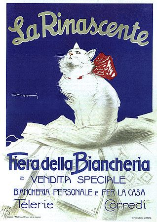 Muggiani, Advertising Poster, Italy, 1925 - for a linen sale at luxury Italian department store La Rinascente.
