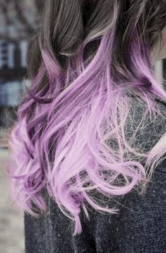 brunette purple ombre hair