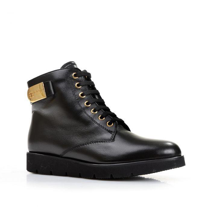 Baldinini Зимние черные ботинки на плотной подошве от итальянского бренда Baldinini