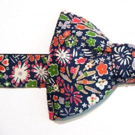Noeud Papillon Liberty Bleu Marine Kayoko