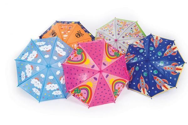 Multi Coloured Changing Umbrellas Kids by Think Pink