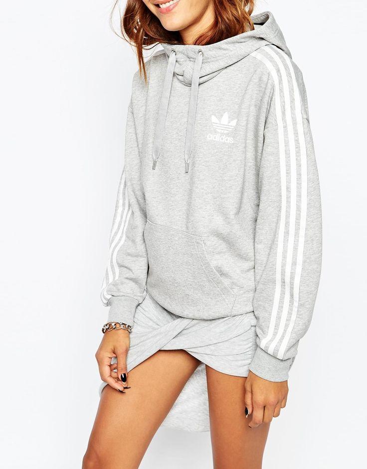 Image 3 of adidas Originals 3 Stripe Pull Over Hoodie More