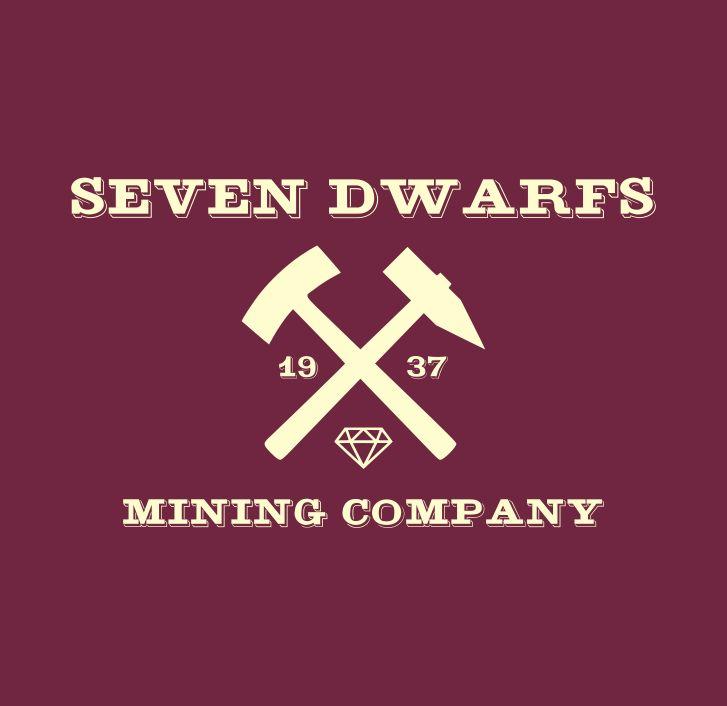 Seven Dwarfs Mining Company Tee - Maroon