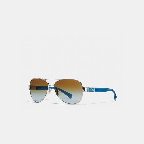 Coach USA Store & COACH CHRISTINA polarized sunglasses SILVER/BLUE