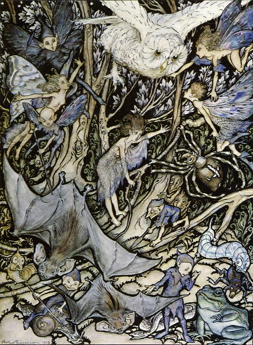 Another Part of the Wood (from A Midsummer Night's Dream) by Arthur Rackham
