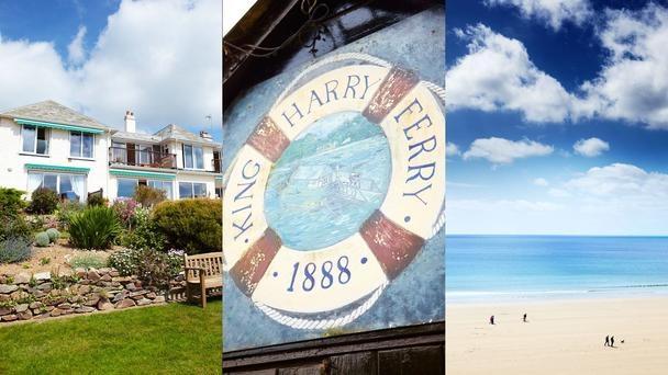 Roseland    The plush Nare hotel at Carne Beach (left); the King Harry Ferry (centre); Carne and Pendower beaches (left). (Matt Munro)