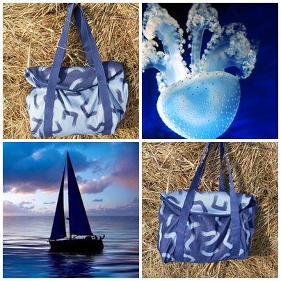 egy táska két arca kék szürke
