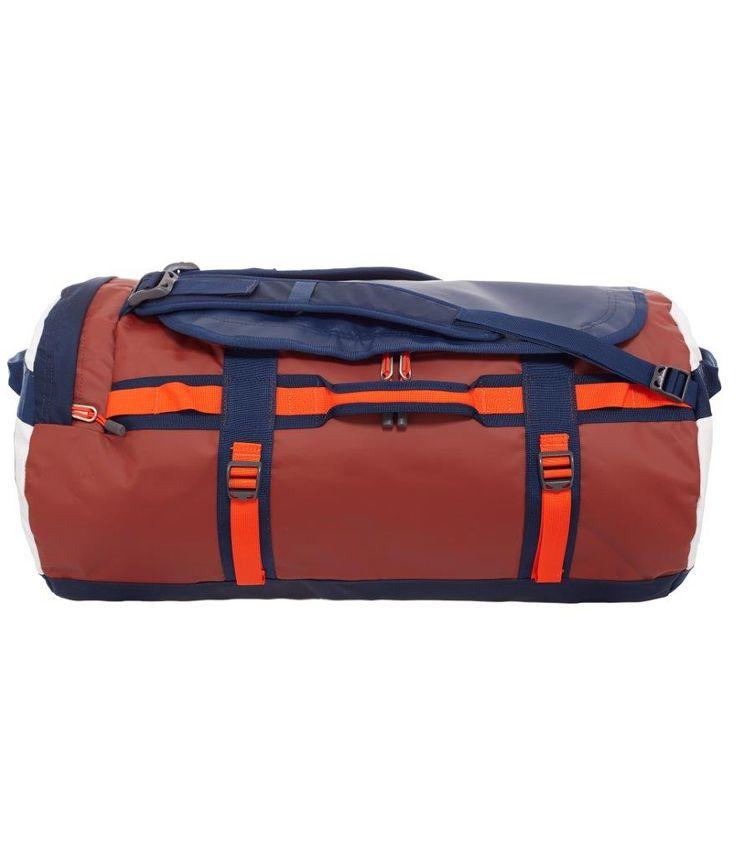 De sejeste North Face Base Camp Duffel M, CWW2-BSN, Brick house red/Acrylic orange  Rejsetasker til Kufferter i dejlige materialer