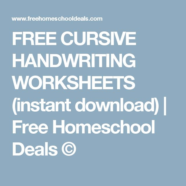Cursive handwriting practice worksheets free download