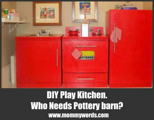 DIY Play kitchen - knock off Pottery Barn that I built for my kids ...