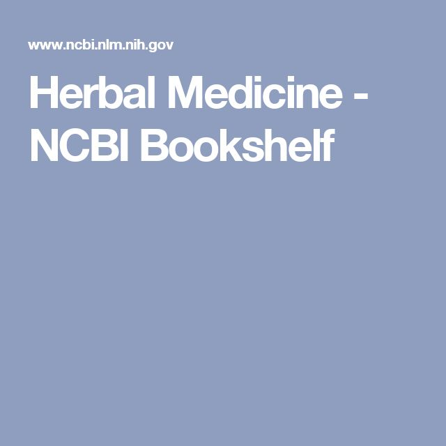 Herbal Medicine - NCBI Bookshelf