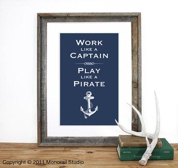 Play like a Pirate Screenprint by Monorail - eclectic - artwork - Etsy