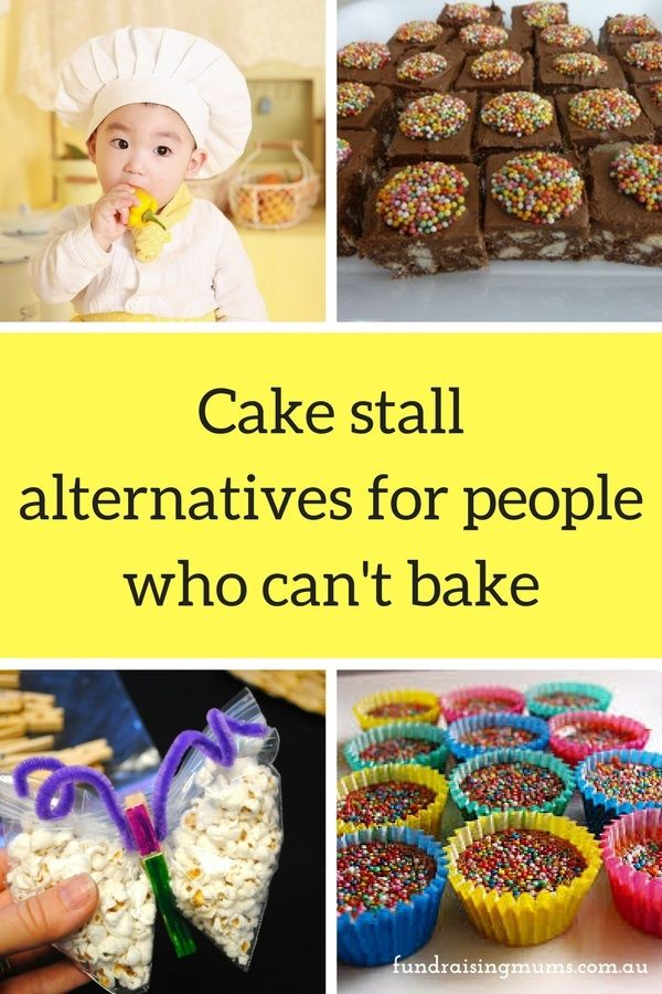 At some point in your school-parent career you WILL be asked to provide something for the school cake stall - but what happens if you can't bake? Here are some fun and easy recipes and alternatives for people who can't cook.