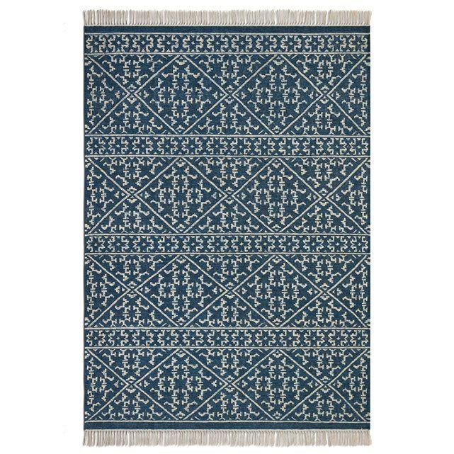 Tapis tissé à plat motif kilim en laine, Markus - 160x230 - 279e