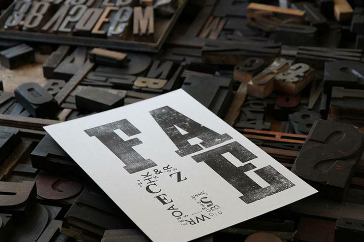 Designworks students were lucky to have expert Brisbane typographer and letterpress printer Nicole Phillips spend the morning with them for a type workshop. Students were shown how to set both wooden and lead type pieces, and letterpress print their work on our Farley proofing press.
