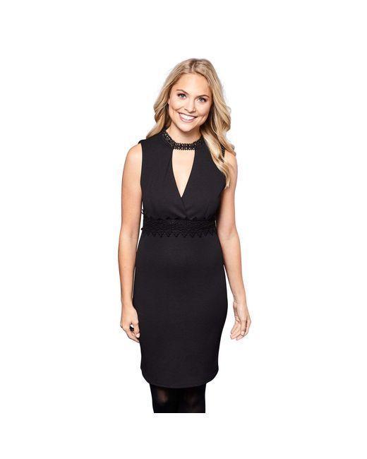 593d9ca89b7679 Yumi Black Lace Choker Mini Bodycon Dress Black Size L LF181 KK 06  fashion