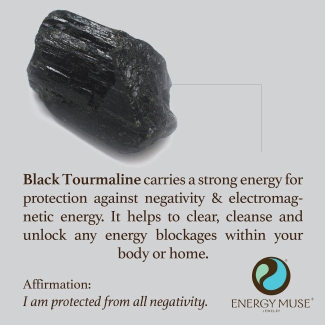 Black Tourmaline is one of the most powerful crystals for protection and elimination of negative energy. It is one of the must have crystals for everyone to have. It helps to clear, cleanse and unlock any energy blockages within your body or home. #crystals #healing #protection #blacktourmaline