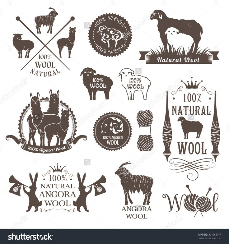 stock-vector-wool-labels-and-design-elements-logo-set-of-sheep-alpaca-rabbit-and-goat-wool-signs-and-emblems-324962747.jpg (1500×1600)