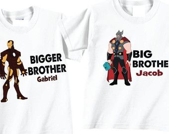 Personalized Baby Brother Shirts Bigger Brother por TheCuteTee