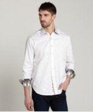 Robert Graham white check cotton woven spread collar dress shirt gifters.com white shirts for men