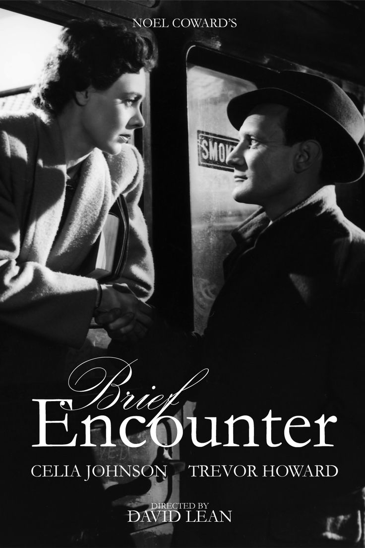 """Brief Encounter"", romantic drama by David Lean, 1945. It's a film about the Impossible Love, centered on Laura, a british married woman with children whose conventional suburban life becomes increasingly complicated because of a chance meeting at a railway station with a stranger, Alec. They inadvertently but quickly progress to an emotional love affair, which brings about unexpected consequences"