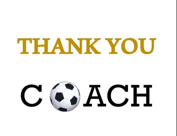 Printable Thank you card - Soccer Coach - Coaches Gift Printable