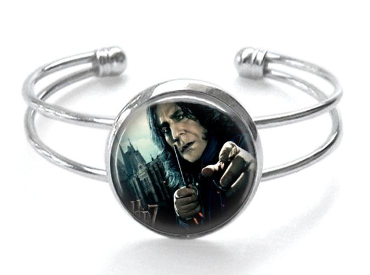Snape Silver Plated Cuff Bracelet Handmade Harry Potter Jewelry Professor Severus Snape