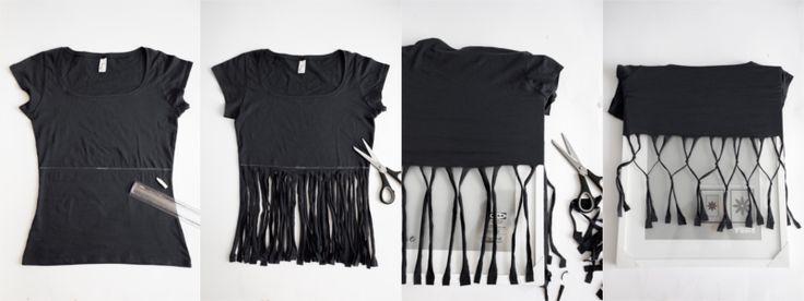 DIY: T-Shirt bleichen   Top mit geflochtenen Trägern