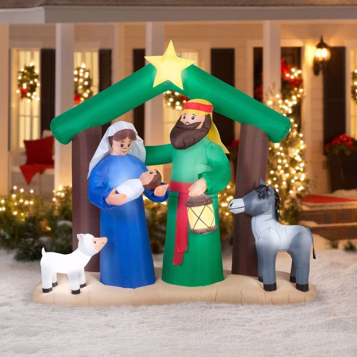 Gemmy Airblown Christmas Self-Inflatable 7ft Decoration,Cheerful Guests Greeting #GemmyAirblown