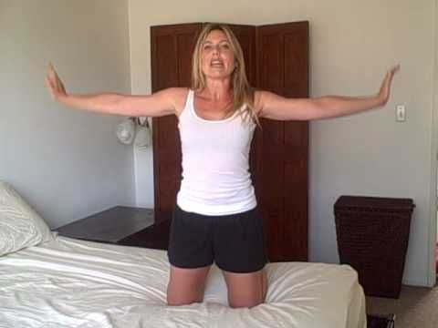 Firm, Lifted, Perky Boobs: Quickie Workout in Bed with Laurel House