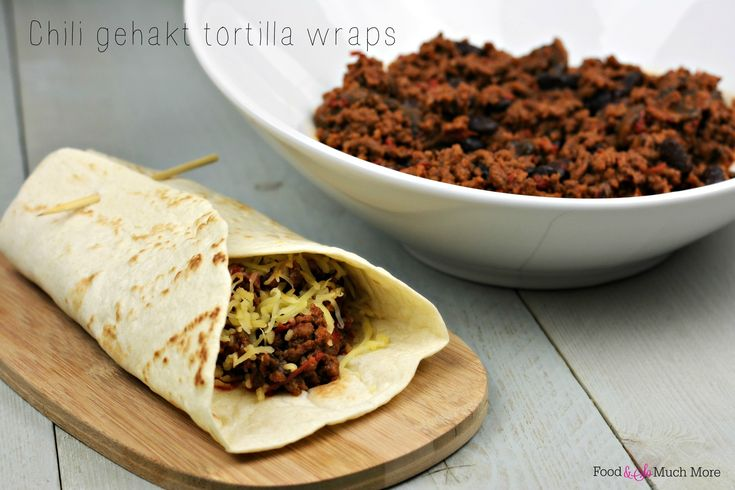 Chili gehakt tortilla wraps. Recept van foodensomuchmore.nl