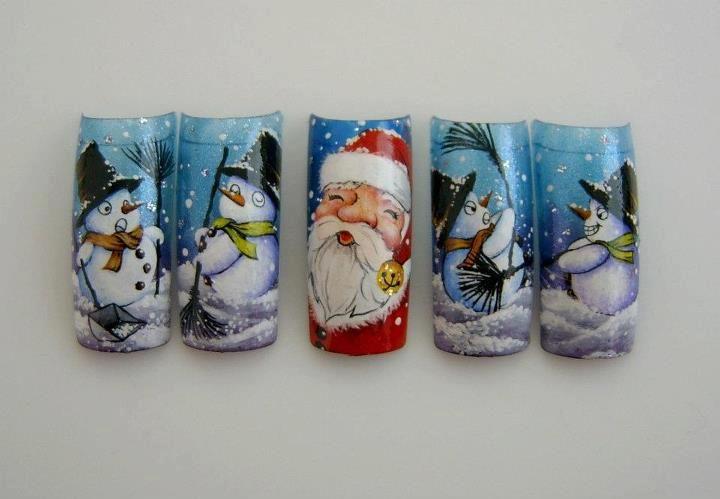 christmas  by Pisut Masanong #nail #nails #nailart