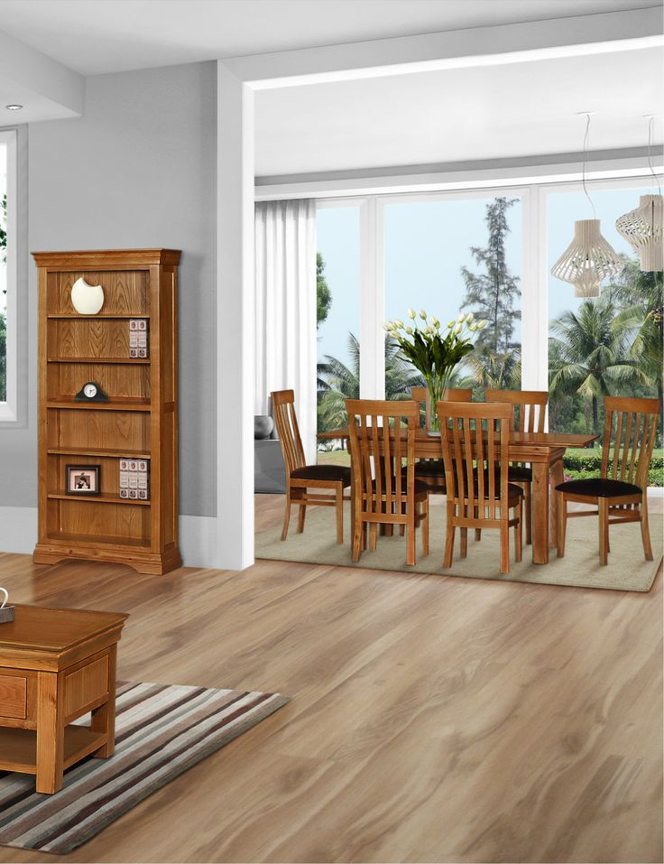 Traditional French Oak Style Dining Table Chairs Bookcase From Elegant Furniture