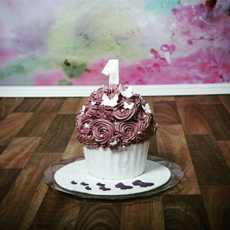 "Giant cupcake  ""Smash-cakes"""