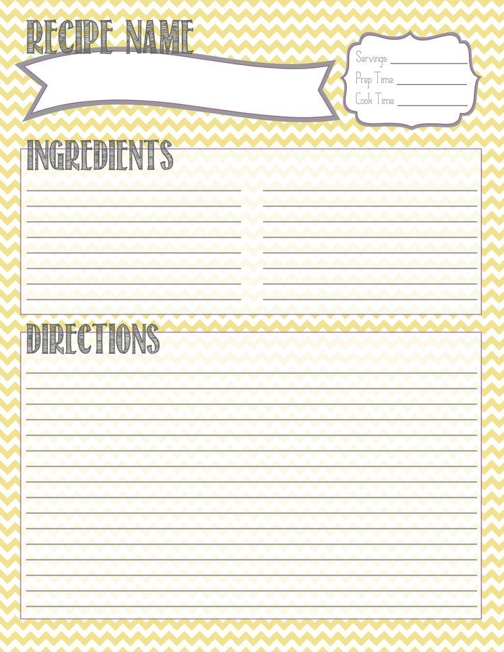 Image Result For Class Recipe Book Template Recipe Cards Template Printable Recipe Cards Recipe Book Diy