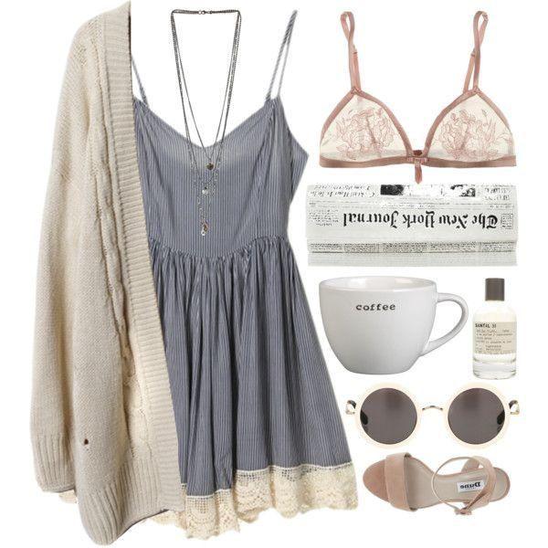 Niedliche Sommerkleider Polyvore Outfits, die perfekt für die heißen Tage sind