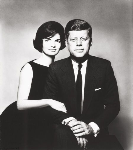 Photographs:20th Century, RICHARD AVEDON (American, 1923-2004). Kennedy Portrait,1961. Vintage gelatin silver. 11-3/8 x 10 inches (28.9 x 25.4 cm... Image #1