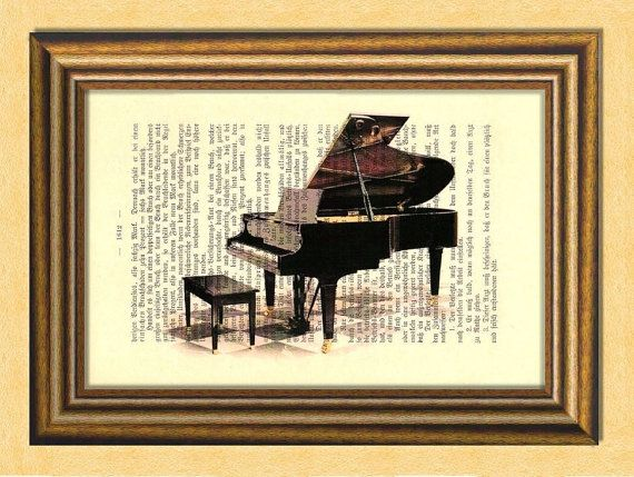 THE PIANO   Musical Instruments  Dictionary by littlevintagechest