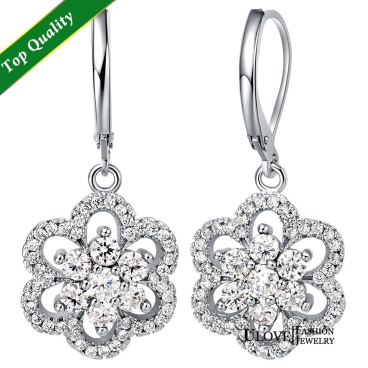 Find More Hoop Earrings Information about Nickel Free White Gold Plated Hoops Earrings Circle Brincos Argola de Cristal Zirconia Earring Amethyst White Flower Ulove T489,High Quality earring bamboo,China earring shelf Suppliers, Cheap earrings beautiful from ULOVE Fashion Jewelry on Aliexpress.com
